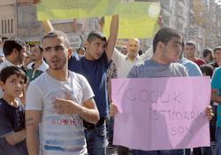 Diyarbakır'da tecavüz protestosu