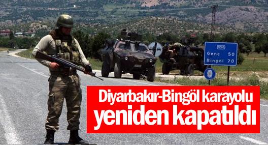 Diyarbakır-Bingöl karayolu yeniden kapatıldı