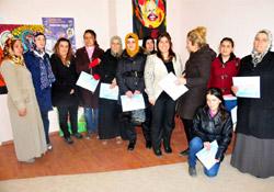 Hakkari'de 120 kadına sertifika verildi