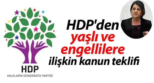 HDP'den yaşlı ve engellilere ilişkin kanun teklifi