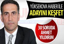 30 soruda Doç. Dr. Ahmet Yıldırım