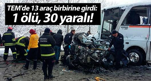 TEM'de 13 araç birbirine girdi: 1 ölü, 30 yaralı!