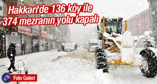 Hakkari'de 136 köy ile 374 mezranın yolu kapalı