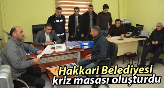 Hakkari Belediyesi kriz masası oluşturdu