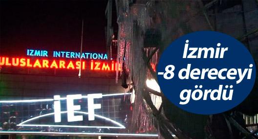 İzmir -8 dereceyi gördü