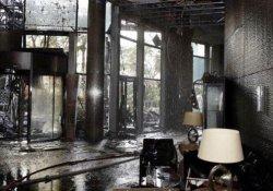 Dubai'de yanan 63 katlı otelin içinden ilk fotoğraf