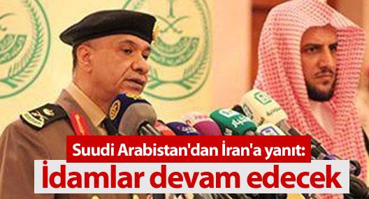 Suudi Arabistan'dan İran'a yanıt: İdamlar devam edecek