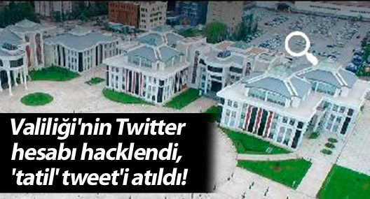Kocaeli Valiliği'nin Twitter hesabı hacklendi, 'tatil' tweet'i atıldı!