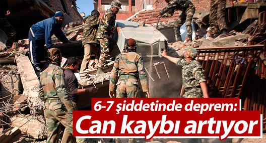 Hindistan'da 6.7 büyüklüğünde deprem: En az 5 ölü