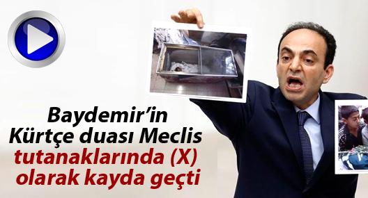 Baydemir'in Kürtçe duası Meclis tutanaklarında (X) olarak kayda geçti