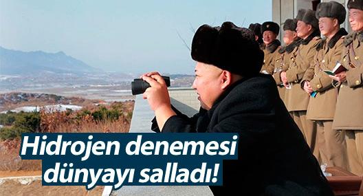 Kuzey Kore'nin hidrojen denemesi dünyayı salladı!