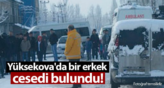 Yüksekova'da bir erkek cesedi bulundu!