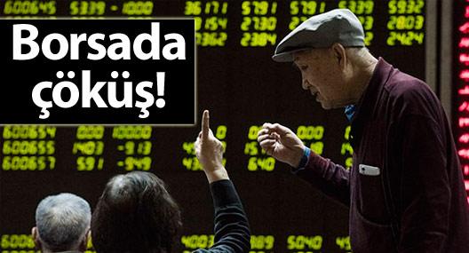 Çin borsaları büyük düşüş sonrası yarım saatte kapatıldı