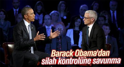 Obama'dan silah kontrolüne savunma