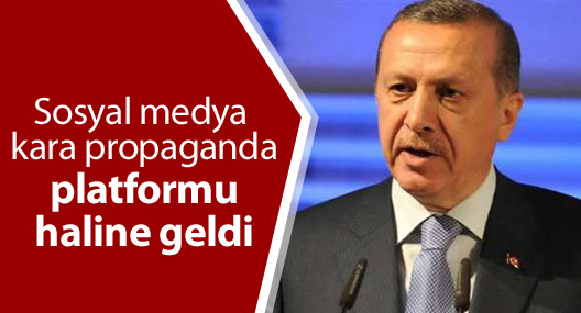 Erdoğan: 'Sosyal medya 'kara propaganda' platformu haline geldi'