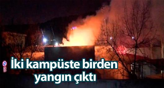 Bilgi Üniversitesi'nin iki kampüsünde birden yangın çıktı