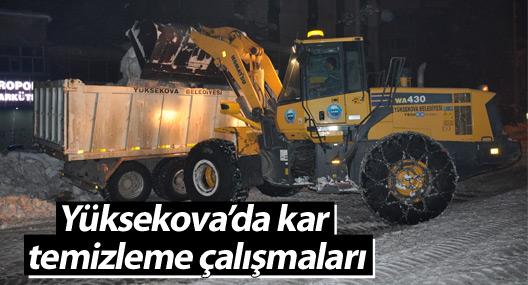 Yüksekova'da kar temizleme çalışmaları
