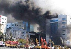 Maltepe'de yangın: İşçiler mahsur kaldı