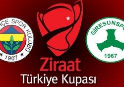 Fenerbahçe-Giresunspor maçı hangi kanalda, saat kaçta?