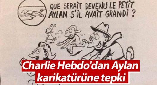 Charlie Hebdo'dan Aylan karikatürüne tepki