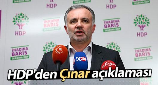 HDP'den Çınar açıklaması