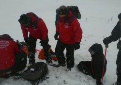 Üniversiteliler Uludağ'da ölümden döndü