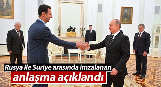 Moskova ile Şam yönetimleri arasında 26 Ağustos 2015'te imzalanan anlaşmanın içeriği açıklandı.