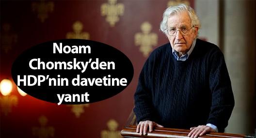 Noam Chomsky'den HDP'nin davetine yanıt