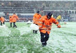 Beşiktaş maçına kar engeli