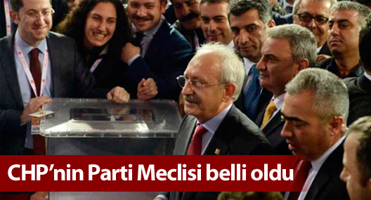 CHP'nin Parti Meclisi belli oldu