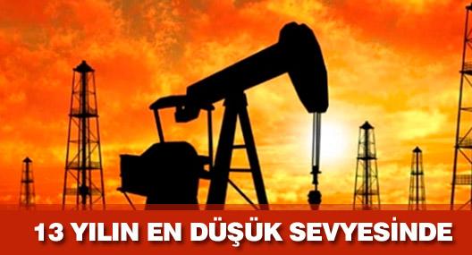 Brent petrol 13 yılın en düşük seviyesini gördü