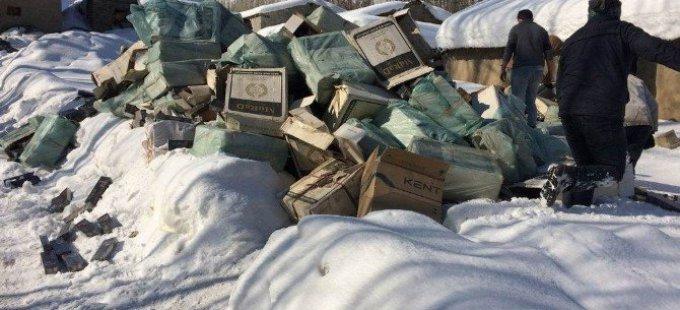Yüksekova'da 225 bin paket kaçak sigara yakalandı