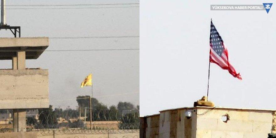 ABD ve PYD bayrakları yeniden asıldı