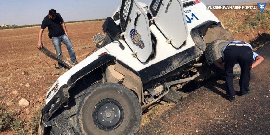 Nusaybin' de zırhlı araç devrildi