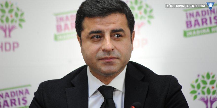 Demirtaş: Kürt halk önderi ifadem suç değildir