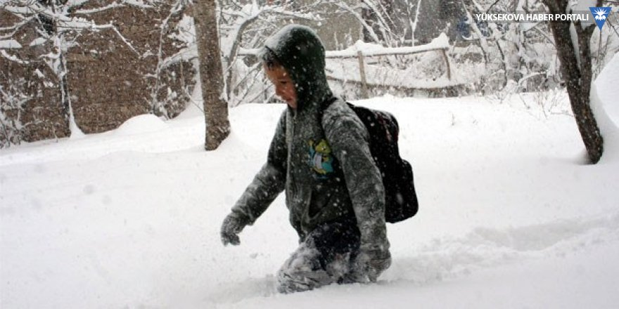Hakkari ve ilçelerinde eğitime kar engeli