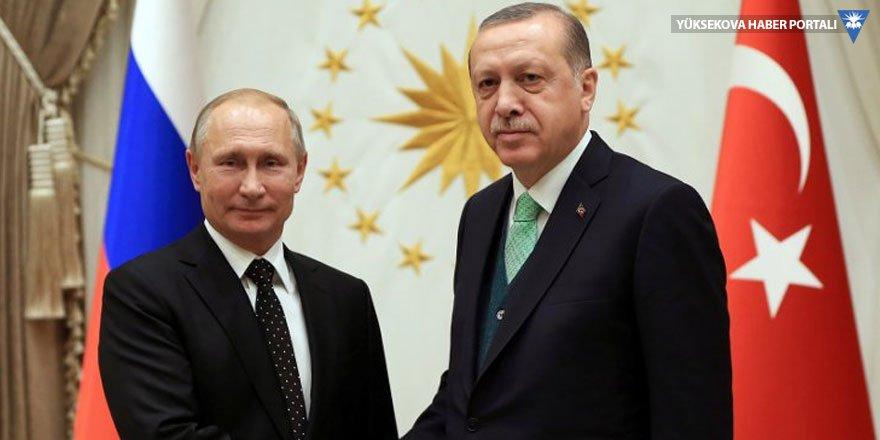 Cumhurbaşkanı Erdoğan'dan Putin'e seçim tebriği