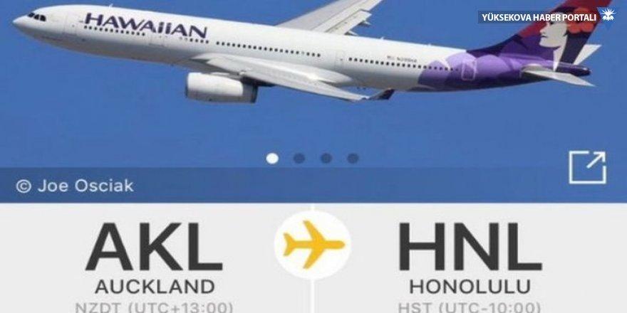 2018'de kalkan bir uçak 2017 yılına indi