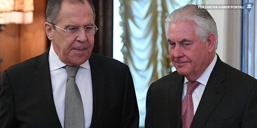 Lavrov ve Tillerson'dan Suriye görüşmesi