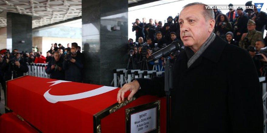 Erdoğan cenaze töreninde konuştu: Operasyon bir ırka karşı değil