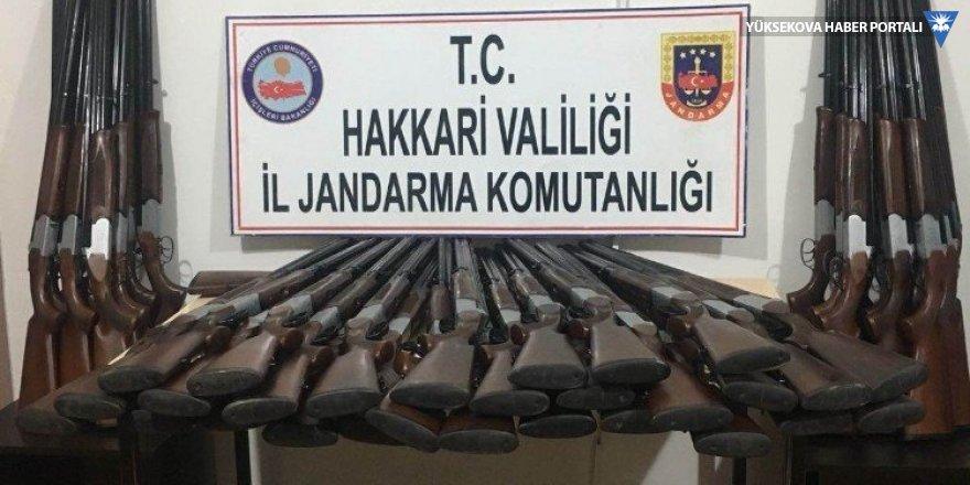 Yüksekova'da 50 adet av tüfeği ele geçirildi