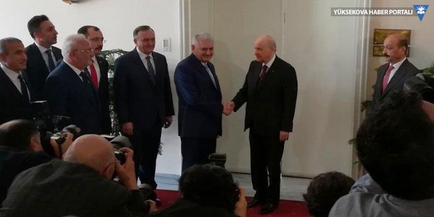 Başbakan Yıldırım'dan Bahçeli'ye ziyaret