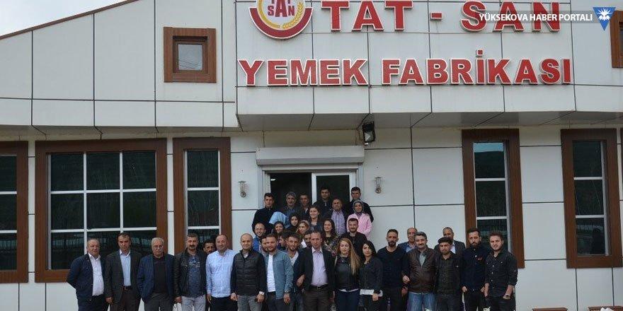 Öğrenciler Yüksekova'daki fabrikaları gezdi