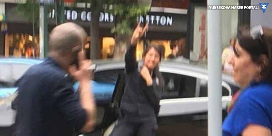 HDP standı önünde bozkurt işareti yapan polise inceleme