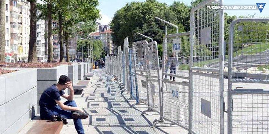 Taksim'de 'Gezi' ablukası