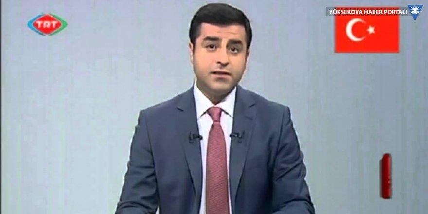TRT, Demirtaş'ın seçim konuşmasını çekti