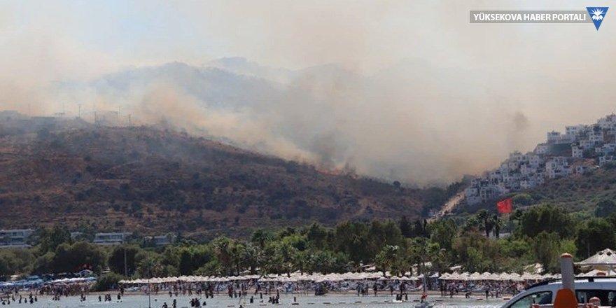 Bodrum'da yangın: Alevler yayılıyor