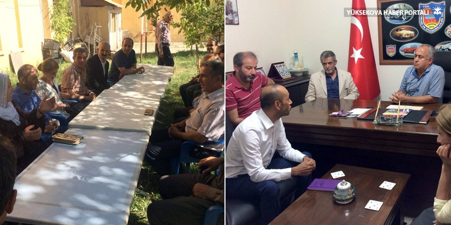 HDP'li Sait Dede, Yüksekova'daki STK'ları ziyaret etti