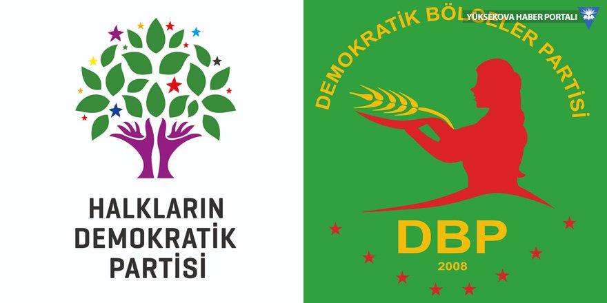HDP ve DBP Yüksekova ilçe teşkilatlarından bayram mesajı