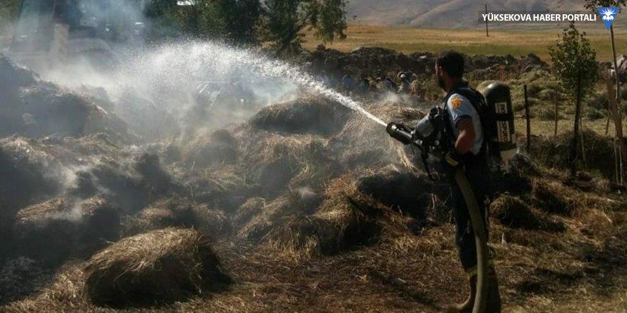 Van'da 8 bin bağ ot ve 3 ton saman yandı